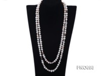 8mm natural white flat freshwater pearl with other color pearl necklace