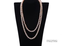 8mm natural pink round freshwater pearl necklace