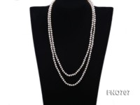 5mm natural white round freshwater pearl necklace