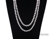 8-9mm natural white round freshwater pearl necklace