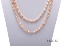 7.5*13.5mm natural pink peanut shape freshwater pearl necklace