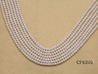 Wholesale & Retail AAA-grade 5mm White Round Freshwater Pearl String