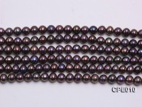Wholesale 6-6.5mm Peacock Round Freshwater Pearl String