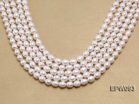 Wholesale A-grade 9x11mm Classic White Rice-shaped Freshwater Pearl String