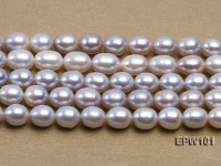 Wholesale 8X10mm Natural Rice-shaped Freshwater Pearl String