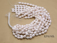 Wholesale Super-size 12.5x15mm Classic White Rice-shaped Freshwater Pearl String
