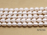 Wholesale A-grade 10.5×12.5mm White Rice-shaped Pearl String