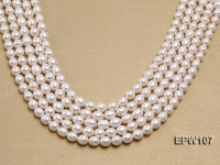 Wholesale 8x9mm Classic White Rice-shaped Freshwater Pearl String