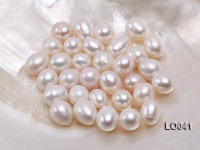 Wholesale 11×14.5-12X15mm Classic White Drop-shaped Loose Freshwater Pearls