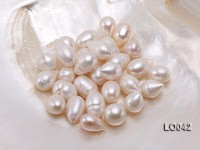 Wholesale 11×16-12x17mm Classic White Drop-shaped Loose Freshwater Pearls