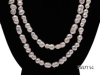 7.5*13.5mm natural white peanut shape freshwater pearl necklace