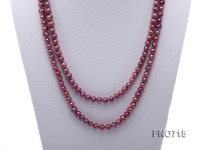 7.5mm purple freshwater pearl opera necklace