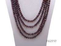 8-9mm coffee color round freshwater pearl necklace