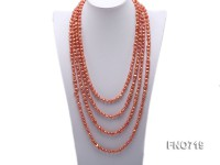6-7mm orange flat freshwater pearl necklace