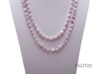 7.5*10mm light lavender rice freshwater pearl necklace