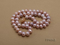 Classic 10mm Lavender Flat Cultured Freshwater Pearl Necklace