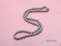 6mm Silver Grey Round Freshwater Pearl Necklace