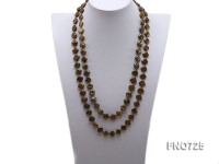12.5mm square shape olive green freshwater pearl necklace