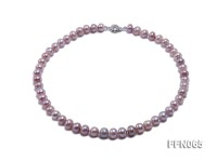 Classic 8-9.5mm Lavender Flat Cultured Freshwater Pearl Necklace