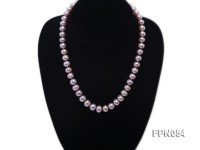 Classic 9.8-10.5mm AAA Lavender Flat Cultured Freshwater Pearl Necklace