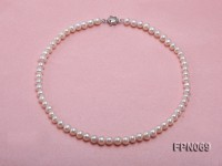 Classic 6-7mm White Flat Cultured Freshwater Pearl Necklace