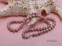 Classic 6-7mm Lavender Flat Cultured Freshwater Pearl Necklace