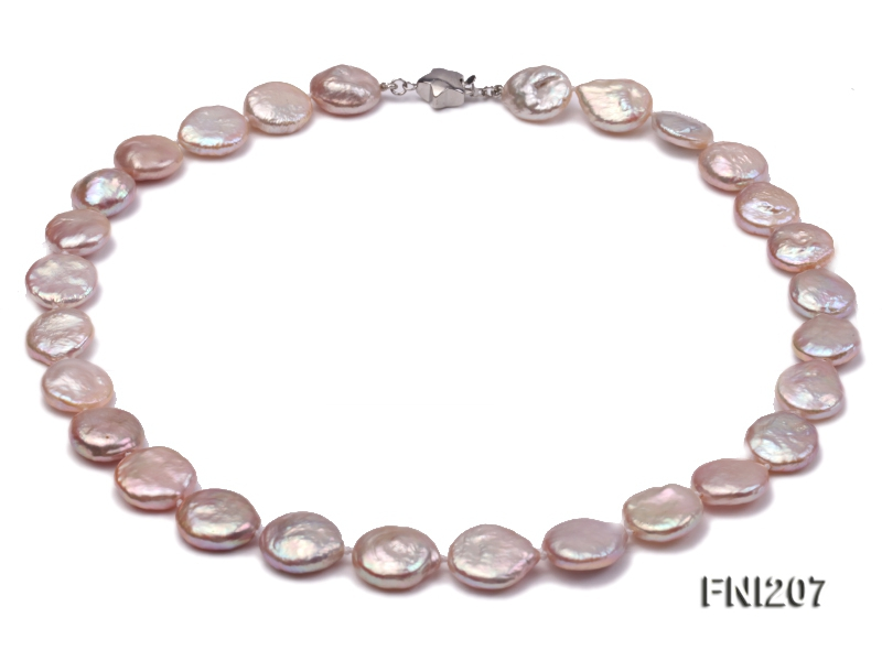 Classic 12-13mm Pink Button Freshwater Pearl Necklace