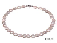 Classic 11mm White Button Freshwater Pearl Necklace