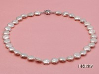 Classic 11-12mm White Button Freshwater Pearl Necklace