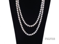 9mm natural white round freshwater pearl necklace