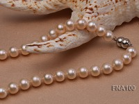 Classic 8.5-9.5mm Pink Round Cultured Freshwater Pearl Necklace