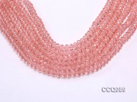 Wholesale 5x8mm Pink Faceted Crystal Beads String