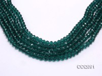 Wholesale 5x8mm Green Faceted Crystal Beads String