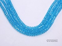 Wholesale 5x8mm Blue Faceted Crystal Beads String