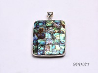 30x40mm Double-faced Rectangular Abalone Shell Pendant