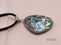 43x31mm Double-faced Baroque Abalone Shell Pendant