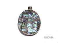 43x32mm Double-faced Oval Abalone Shell Pendant