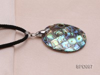 41x32mm Oval Abalone Shell Pendant