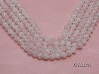 Wholesale 10mm Round Faceted Internally Cracked Rock Crystal Beads String