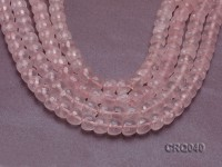 Wholesale 9.5×11.5mm Apple-shaped Faceted Rose Quartz Beads String