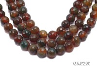 wholesale 15.5mm round faceted black agate strings