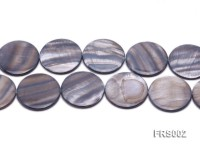 Wholesale 35mm Grey Disc-shaped Freshwater Shell String