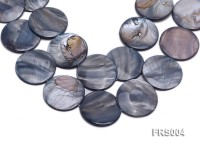 Wholesale 40mm Grey Disc-shaped Freshwater Shell String