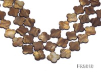 Wholesale 26mm Brown Flower-shaped Freshwater Shell String