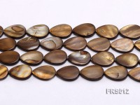 Wholesale 13x18mm Brown Teardrop Freshwater Shell String