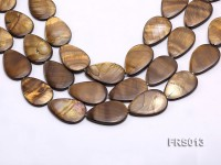 Wholesale 20x30mm Brown Teardrop Freshwater Shell String