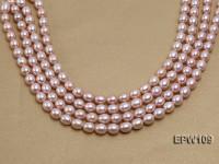 Wholesale AA-grade 10×11.5mm Pink Elliptical Freshwater Pearl String