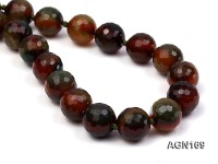 15.5mm colorful round faceted agate necklace