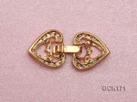 8*30mm Gold-plated Copper Clasp Inlaid with Shiny Zircons