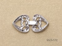 14*30mm Gold-plated Copper Clasp Inlaid with Shiny Zircons